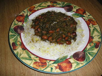 Persin Dish (herbs Stew with Beans)
