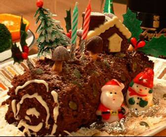 Buche De Noel - French Dessert For Christmas