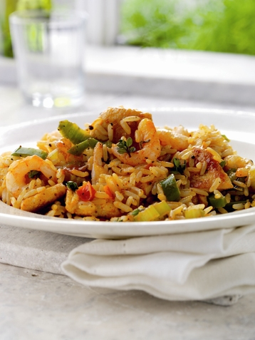 Chicken & Prawn Jambalaya