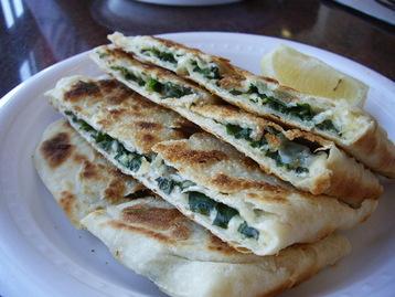 Gozleme Turkish Pancake With Spinach And Feta Cheese Recipe Mydish