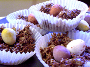 Recipe Chocolate Easter Eggs Nests - mydish
