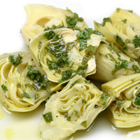 Recipe Baby Artichokes With A Herb & Lemon Garlic Vinaigrette - mydish