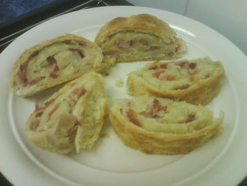 Bacon and Onion Roly Poly Easy Peasy Style recipe   MyDish