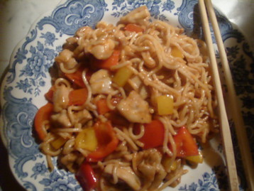 Chinese  Kung Po Chicken with Peppers