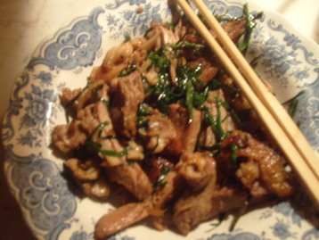 Stir Fried Duck with Chives