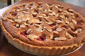 Raspberry, Peach and Almond Tart
