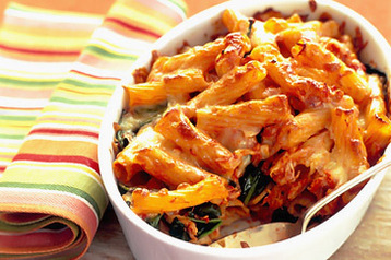 Recipe Chicken Chorizo And Olive Pasta Bake Mydish