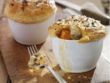 Recipe Leftover Turkey and Stilton Pies - mydish