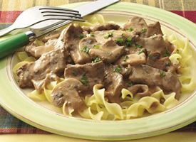 Beef, Chicken Or Pork Stroganoff
