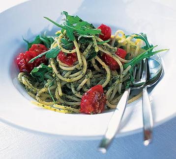 Recipe Quick and Easy Pasta with Pesto - mydish