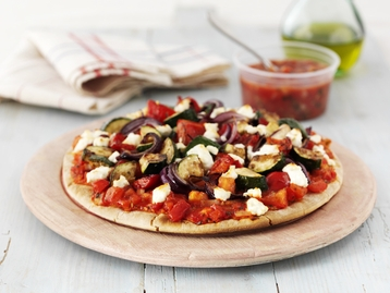 Vegetable and Goat's Cheese Pizza