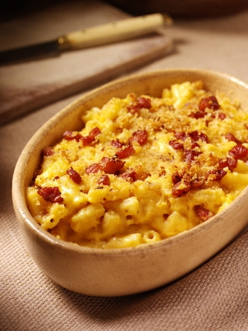 5-cheese Macaroni With Chilli, Pancetta & Parmesan Crust
