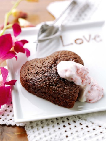 Romantic Chocolate Brownies