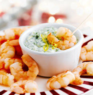 Jolly Prawns with Herby Dip