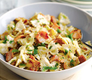 Creamy Bacon and Onion Pasta