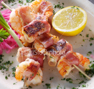 Bbq Prawns Wrapped in Bacon