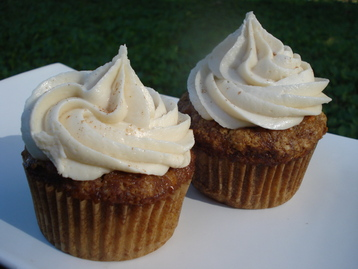 Carrot Cupcakes with Honey, Orange and Cream Cheese Frosting