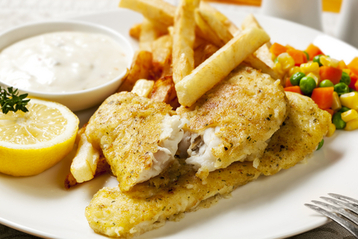 Fish and Chips Healthy Option