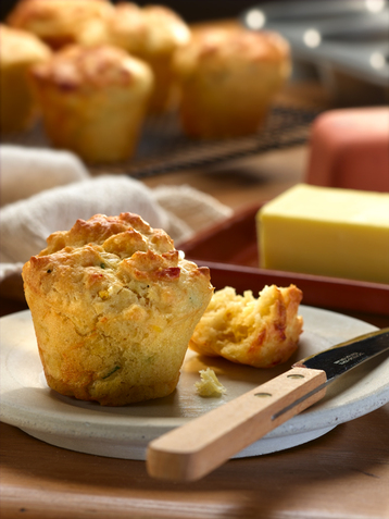 Cheddar Cheese & Corn Muffins