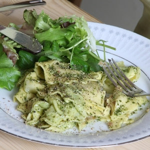 Delicious, Feta Walnut and Pesto Pasta
