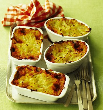 Parsnip and Potato-topped Mini Cottage Pies