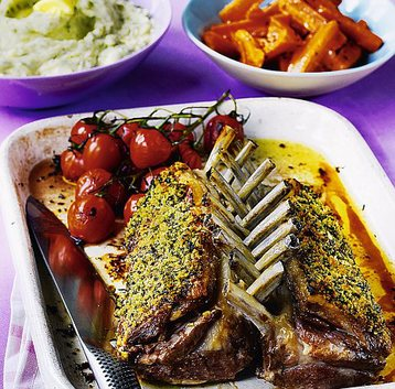 Mustard and Herb Crust Rack Of Spring Lamb