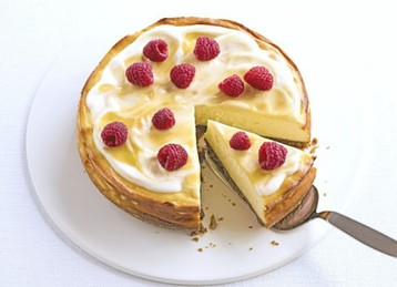 Luscious Lemon-baked Cheesecake