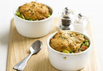 Ham and Leek Cobbler