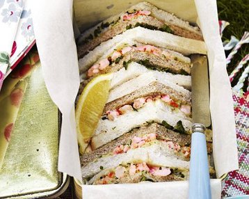 Prawn and Herb Sandwiches