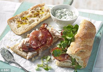 Chicken, Bacon and Watercress Baguettes