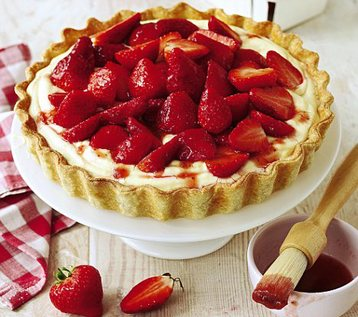 Strawberry Vanilla Cream Tart