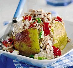 Lemon Tuna Baked Potato
