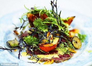 Jamie Oliver's Christmas Roasted Squash and Beef Carpaccio Salad