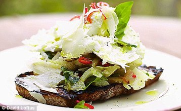 Jamie Oliver's  Beautiful Leftover Roasted Veg Bruschetta
