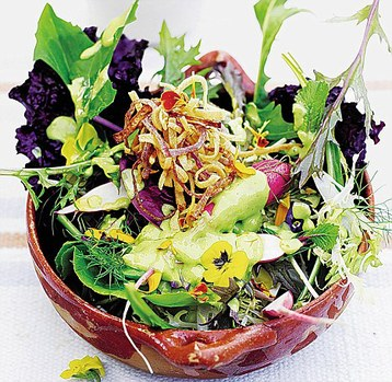 Jamie Oliver's Green God Salad