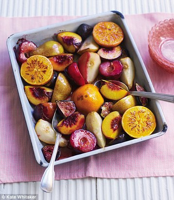 Recipe Gino D'Acampo's Roasted Fresh Fruits with Grand Marnier - mydish