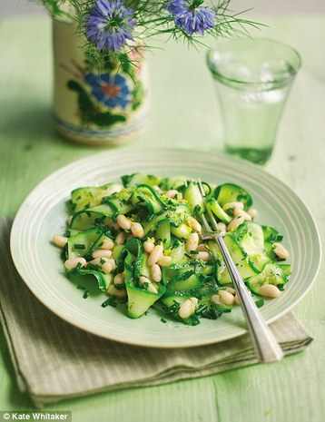 Gino D'Acampo's Courgette Ribbons with Cannellini Beans and Lemon Dressing