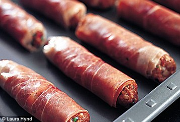 Tana Ramsay's Home-made Lamb Sausages in Prosciutto