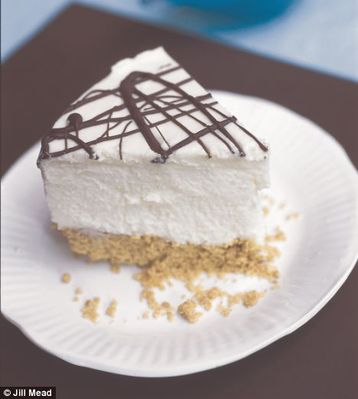 Tana Ramsay's White Chocolate Cake with Dark Chocolate Topping
