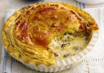 Jo Pratt's Easy Chicken, Bacon and Mushroom Pie