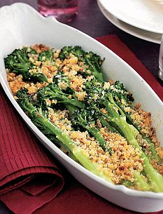 Jo Pratt's Tenderstem Broccoli with Crispy Parmesan and Anchovy Crumbs