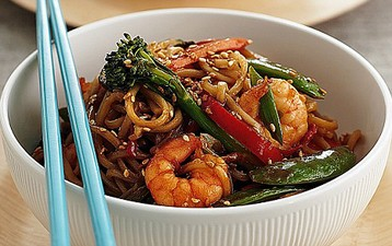 Jo Pratt's Prawn and Noodle Stir-fry