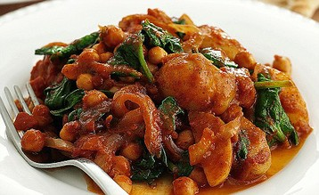 Jo Pratt's Chickpea, Potato and Spinach Curry
