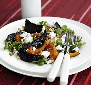 Jo Pratt's Roasted Squash, Beetroot and Goat's Cheese Salad
