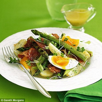 Jo Pratt's Asparagus, Parma Ham and Soft-boiled Egg Salad