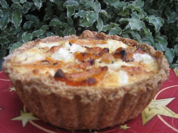 Roasted Butternut Squash, Caramelised Onion and Goats Cheese Tarts
