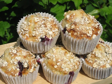 Recipe Blueberry, Banana and Oat Muffins  - mydish
