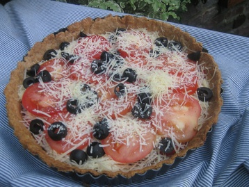 Tomato and Gruyère Tart with Parmesan Spelt Pastry