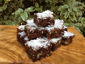 Date and Nut Chocolate Squares