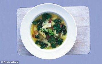 Recipe Annie Bell's Spring Greens and Potato Soup - mydish